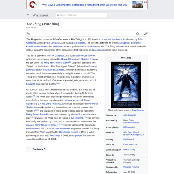 The Thing (1982 film) - Wikipedia