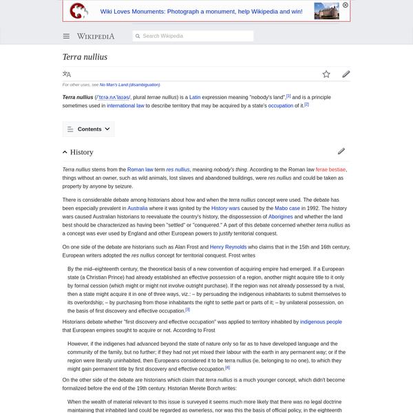 Terra nullius - Wikipedia