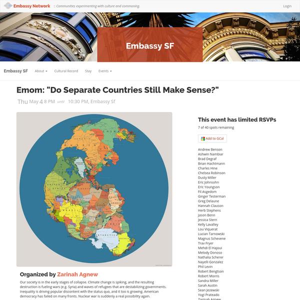"""Emom: """"Do Separate Countries Still Make Sense?"""""""