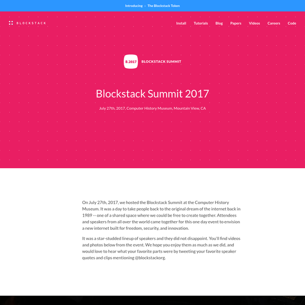 Blockstack is a new decentralized internet where users own their data and apps run locally. Take back control over your digital life. A browser portal is all you need to get started.