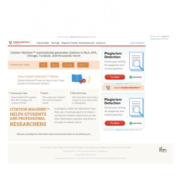 Citation Machine: Format & Generate Citations - APA, MLA, & Chicago