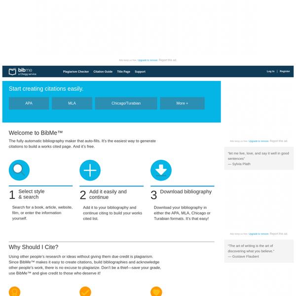 BibMe: Free Bibliography & Citation Maker - MLA, APA, Chicago, Harvard