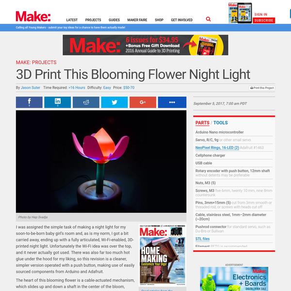3D Print This Blooming Flower Night Light | Make: