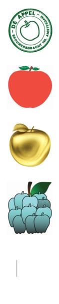 de Appel's logos over time