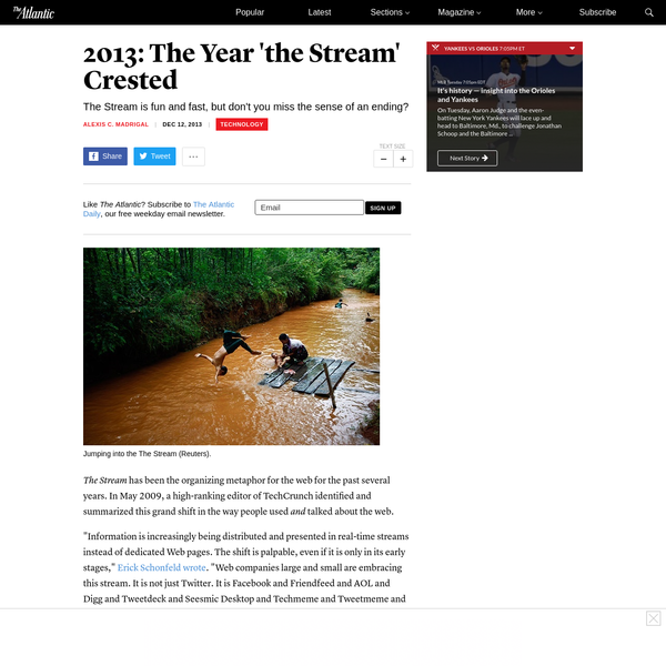 2013: The Year 'the Stream' Crested