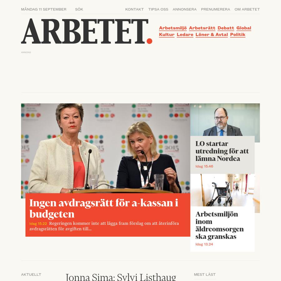 Arbetsrätt Med hjälp av Susanna Kjällström, jurist på LO-TCO rättsskydd, reder Arbetet ut vad nuvarande