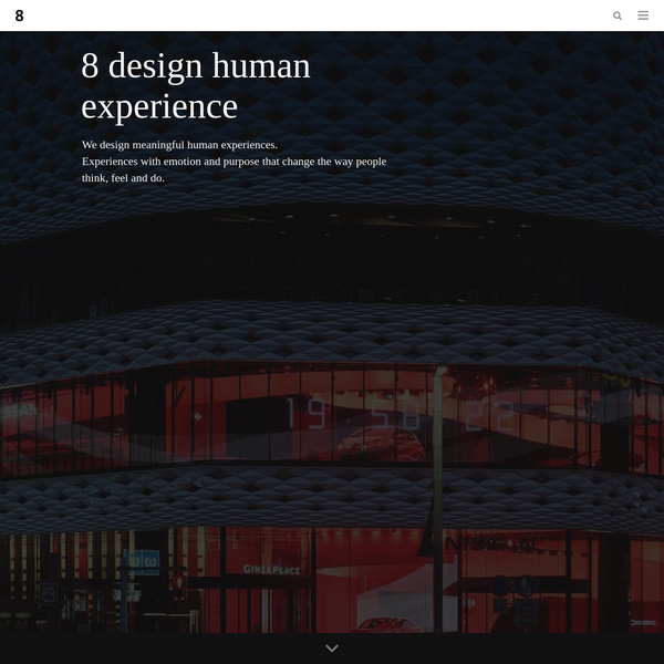 A multi-discipline experience design studio, with 170+ strategic designers and business creatives connected across 12 studios, 6 time zones and 3 continents