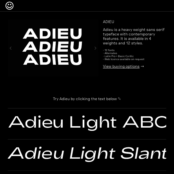 Agentur is a heavy typeface made for high speed. Available in Regular, Slanted and Backslant.