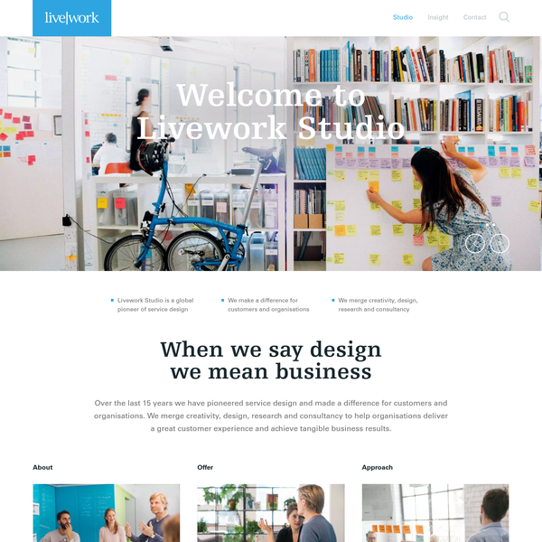 Livework studio merge creativity, design, research and consultancy to help organisations deliver a great customer experience and achieve tangible business results.
