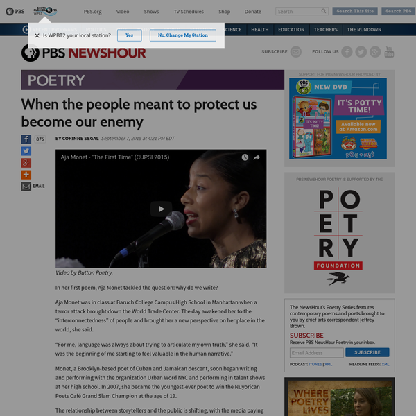 """In her first poem, Aja Monet tackled the question: why do we write? Aja Monet was in class at Baruch College Campus High School in Manhattan when a terror attack brought down the World Trade Center. The day awakened her to the """"interconnectedness"""" of people and brought her a new perspective on her place in the world, she said."""