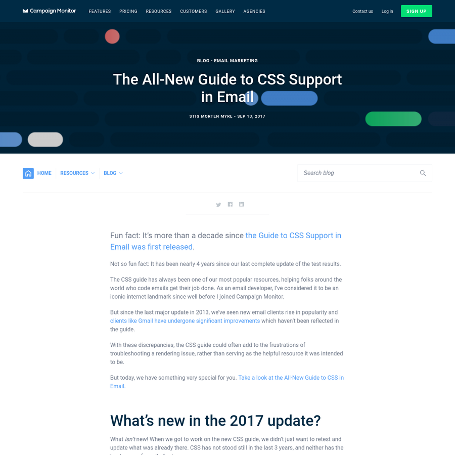 Not so fun fact: It has been nearly 4 years since our last complete update of the test results. The CSS guide has always been one of our most popular resources, helping folks around the world who code emails get their job done.