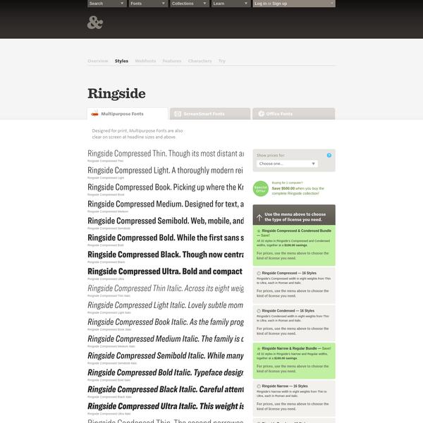 Are na / Download Ringside Fonts | Hoefler & Co