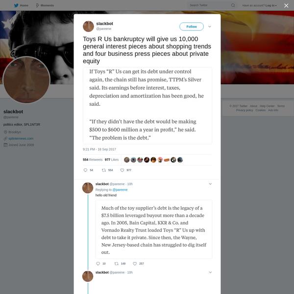 slackbot on Twitter