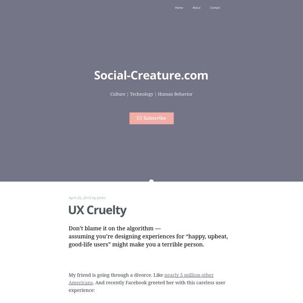 UX Cruelty