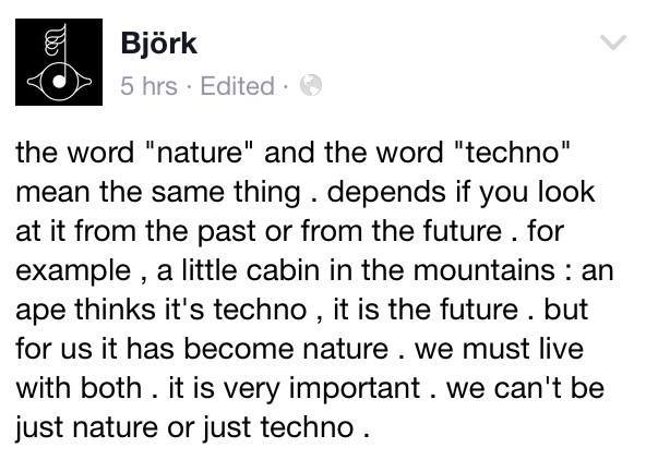 Björk on nature / techno