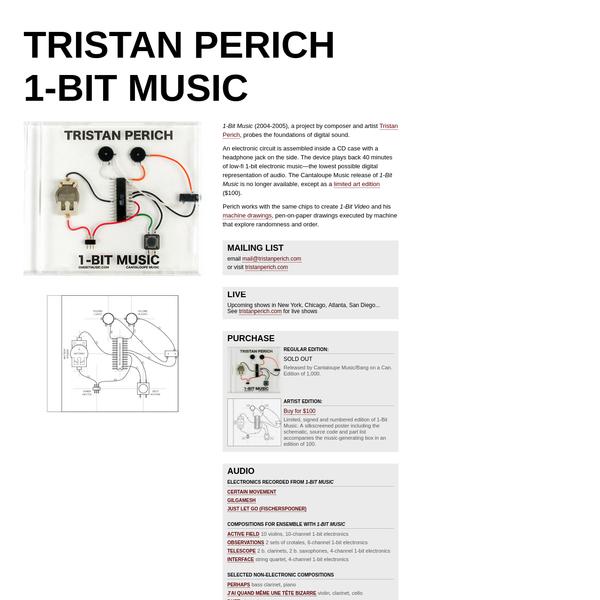 Tristan Perich : 1-Bit Music