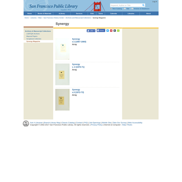 The website of the San Francisco Public Library.
