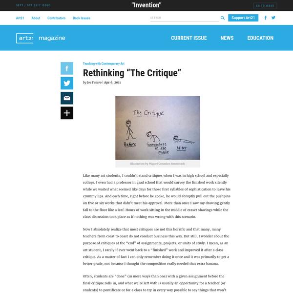 "Rethinking ""The Critique"" | Art21 Magazine"