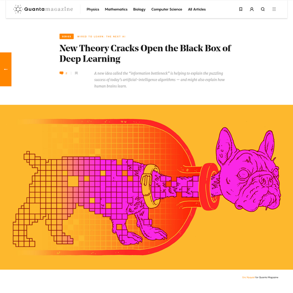 New Theory Cracks Open the Black Box of Deep Learning | Quanta Magazine