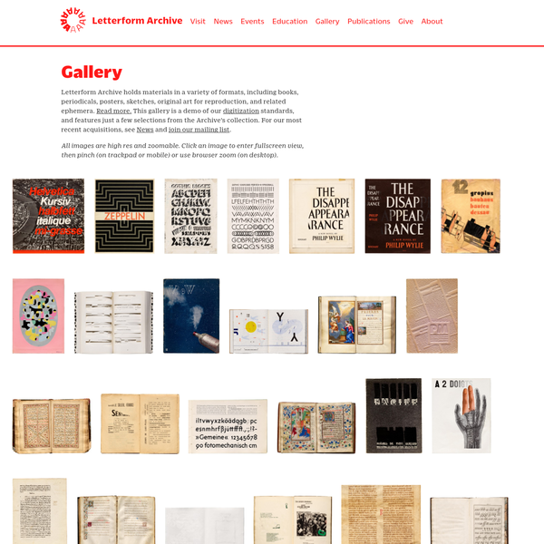 Letterform Archive - Gallery