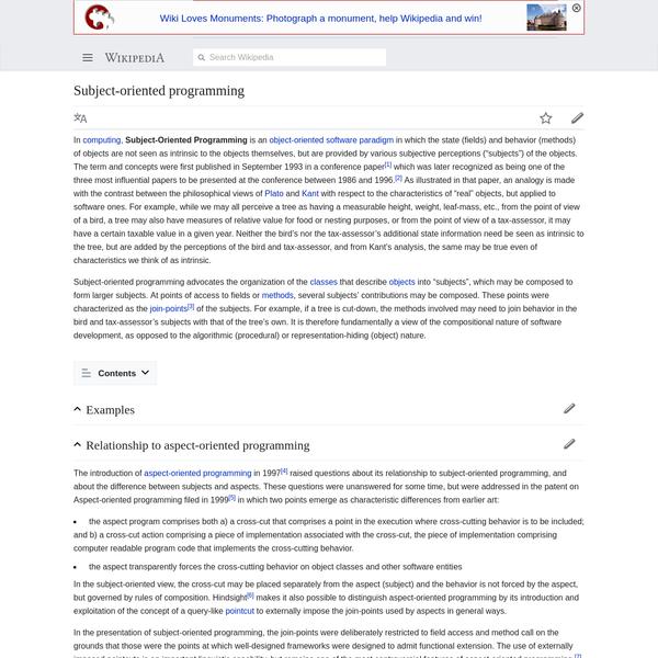 Subject-oriented programming - Wikipedia