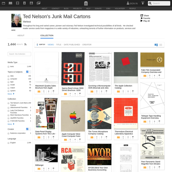 Ted Nelson's Junk Mail Cartons : Free Texts : Download & Streaming : Internet Archive