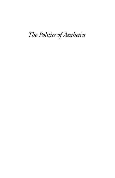 Ranciere, Jacques_The Politics of Aesthetics (2004)