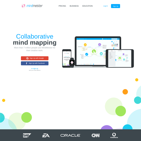 MindMeister - Leading Online Mind Mapping Software. Millions of users collaboratively brainstorm & work on mind maps. Web ✓ iOS ✓ Android ✓ Try for free!