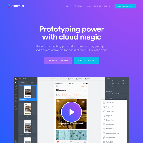 Cloud Prototyping for Product, UX and UI Design Teams