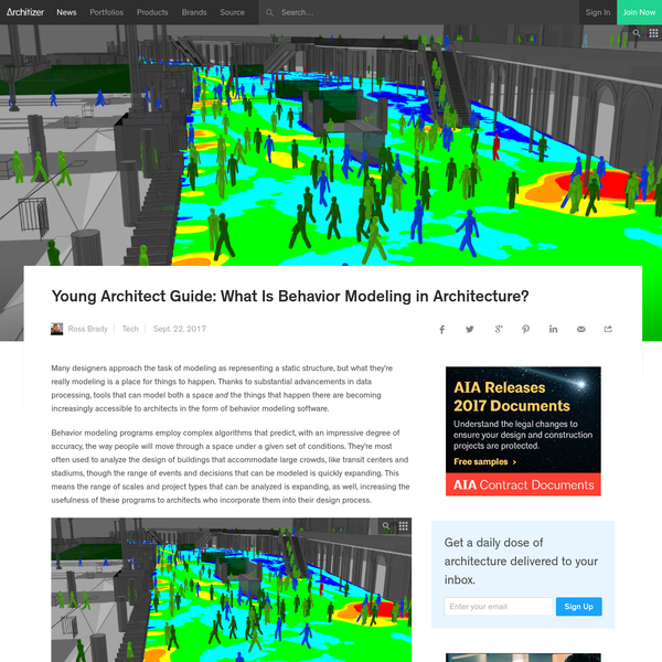 Young Architect Guide: What Is Behavior Modeling in Architecture?