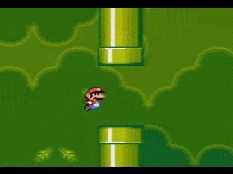SNES Code Injection -- Flappy Bird in SMW