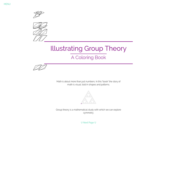 Illustrating Group Theory: A Coloring Book