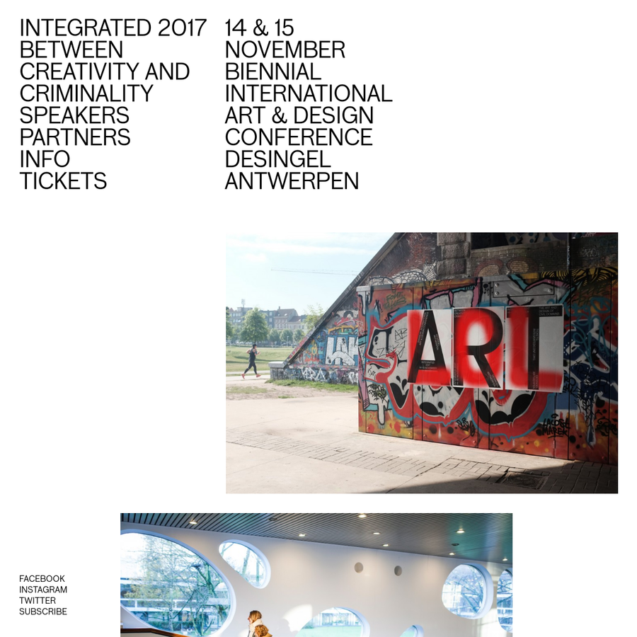 14 & 15 November biennial international art & design conference DeSingel Antwerpen