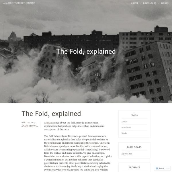 The Fold, explained