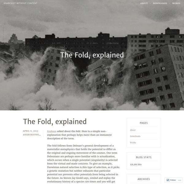 The Fold, explained
