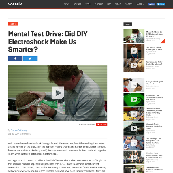 Can DIY Electroshock Therapy Actually Make You Smarter? We Find Out