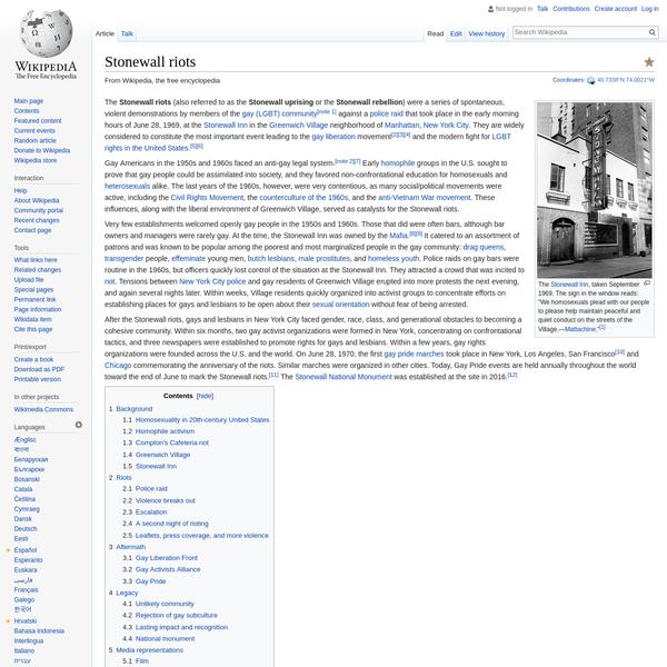 Stonewall riots - Wikipedia