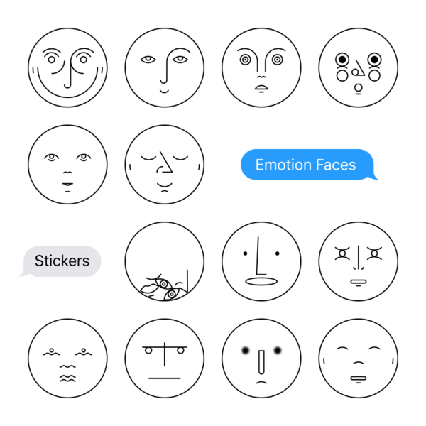 Emotion Faces Stickers for iMessage