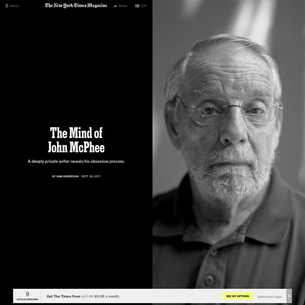 The Mind of John McPhee