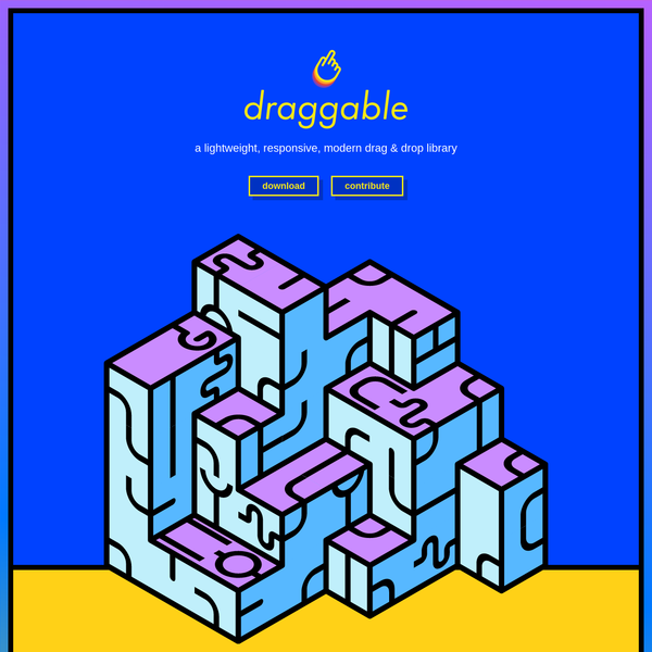 Draggable JS - JavaScript drag and drop library