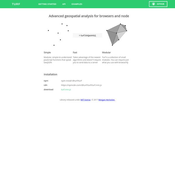 Turf.js   Geospatial Analysis Library