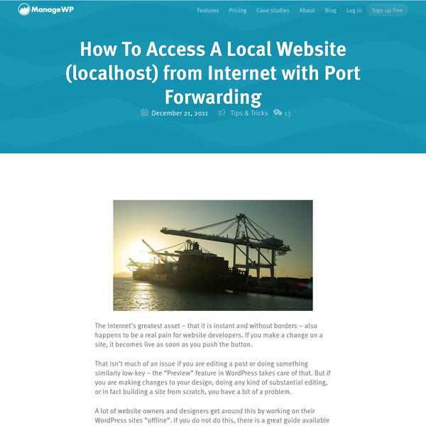 How To Access A Local Website (localhost) from Internet with Port Forwarding - ManageWP