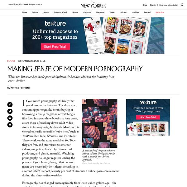 Making Sense of Modern Pornography
