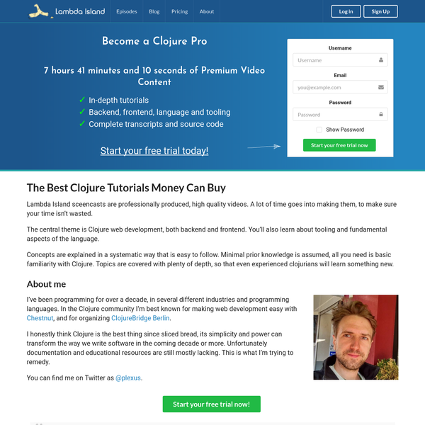 High Quality Clojure and ClojureScript Tutorial Videos