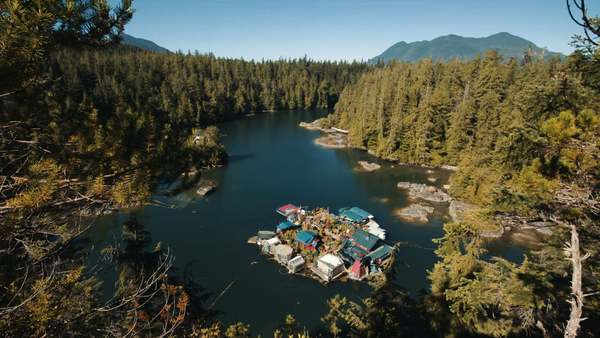 Off the Grid on a Homemade Island