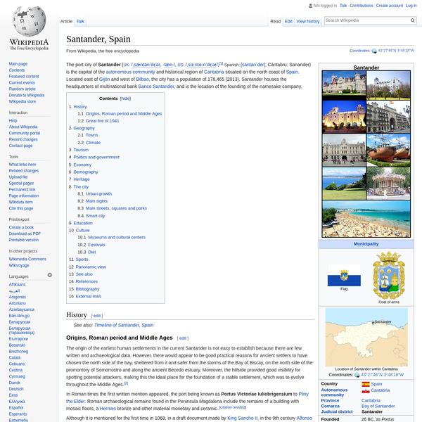 Santander, Spain - Wikipedia