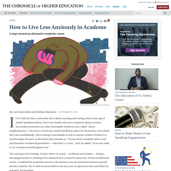 How to Live Less Anxiously in Academe