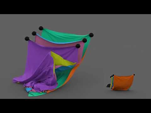 [SIGGRAPH 2017] Anisotropic Elastoplasticity for Cloth, Knit and Hair Frictional Contact