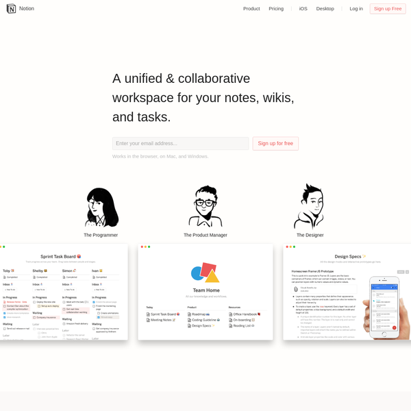 A new tool that blends your everyday work apps into one. It's a unified and collaborative workspace for you and your team