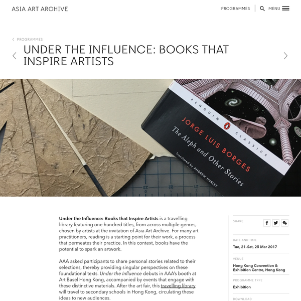 Under the Influence: Books that Inspire Artists